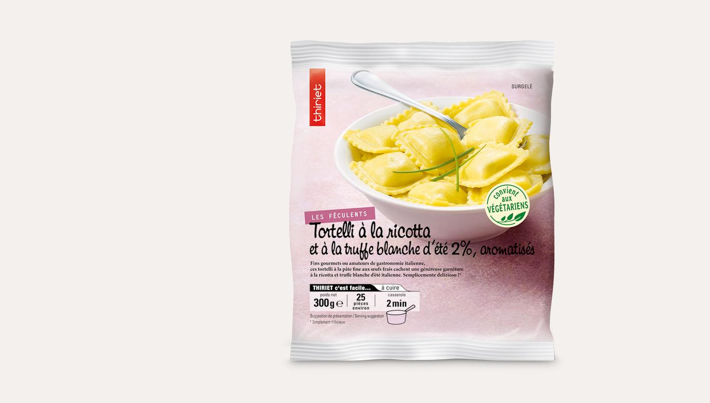 Tortelli à la ricotta et à la truffe blanche d'été