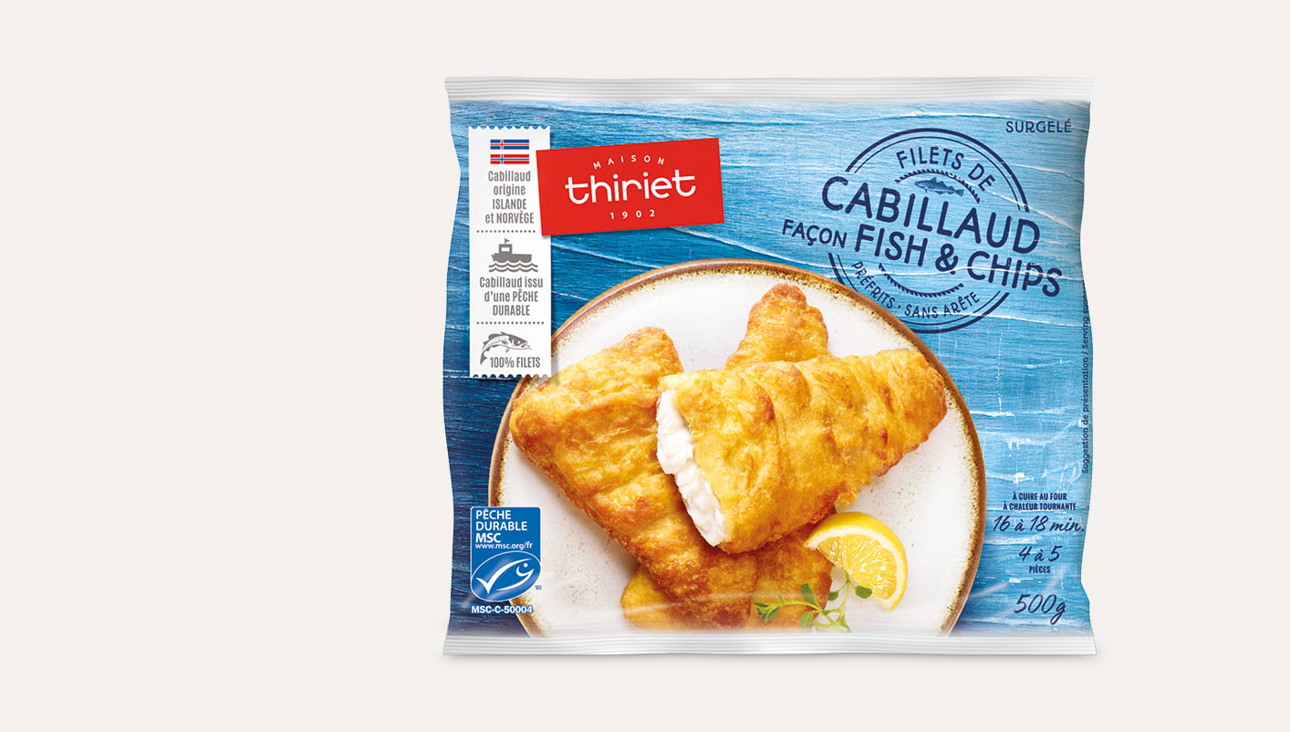 Filets de cabillaud façon fish and chips