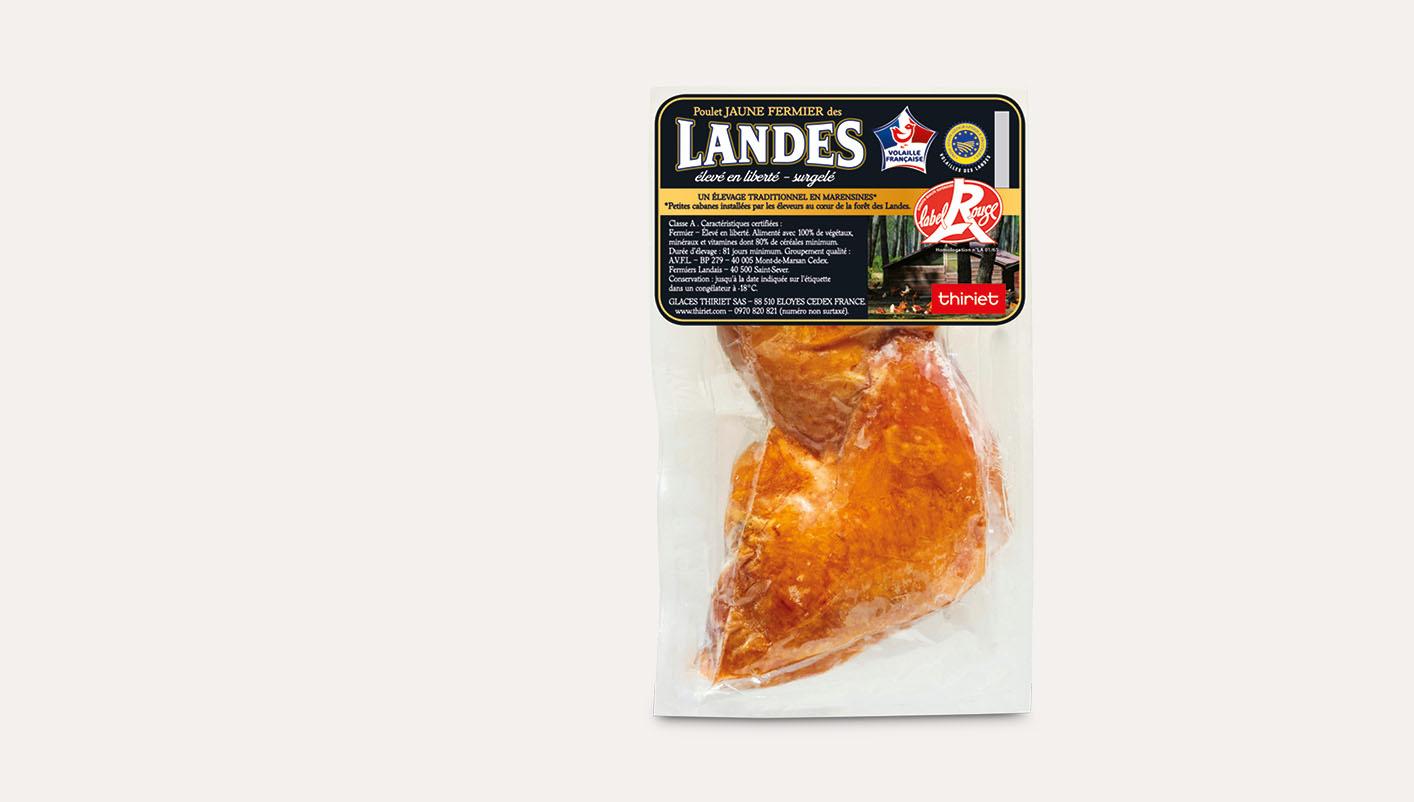 2 Cuisses de poulet jaune fermier des Landes LR