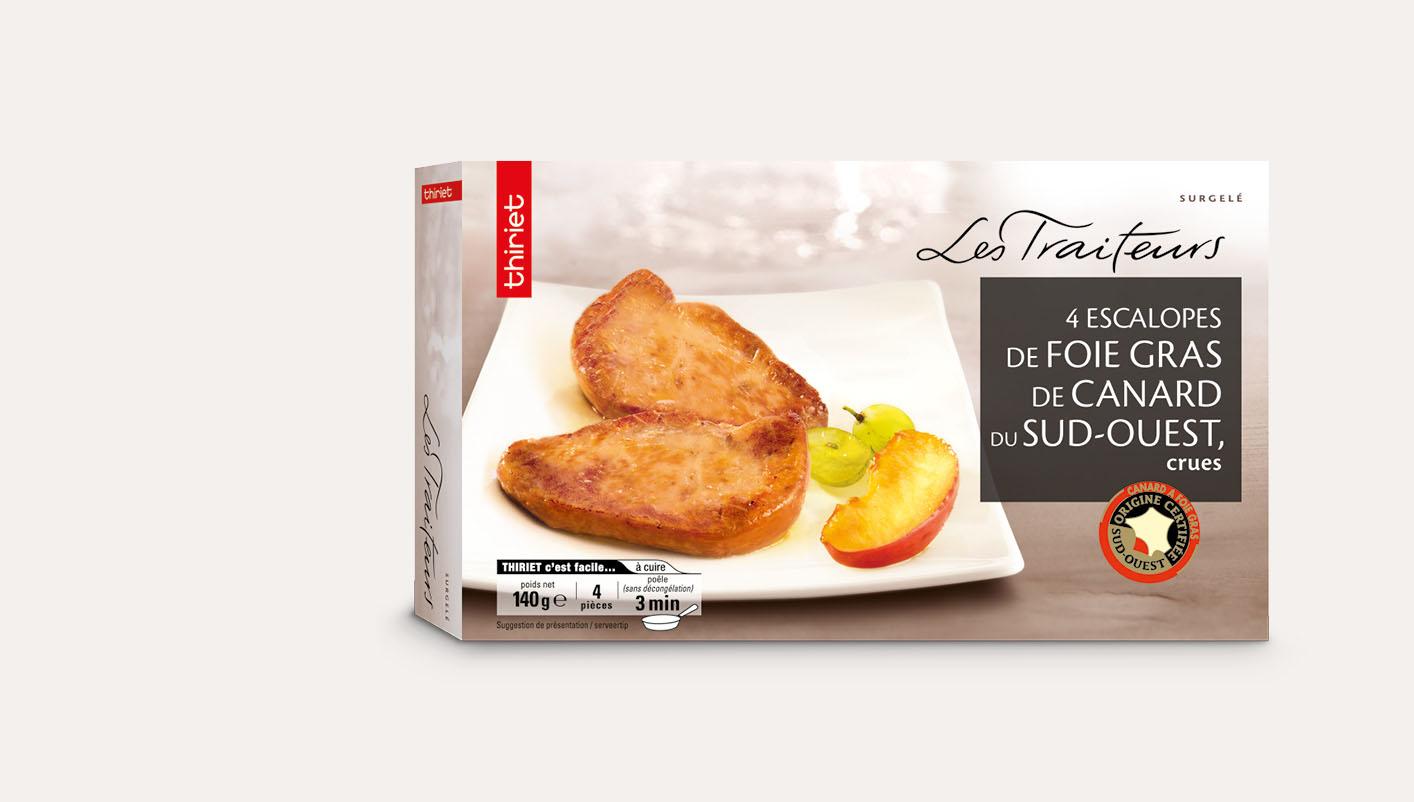 4 Escalopes foie gras de canard du S.Ouest, crues