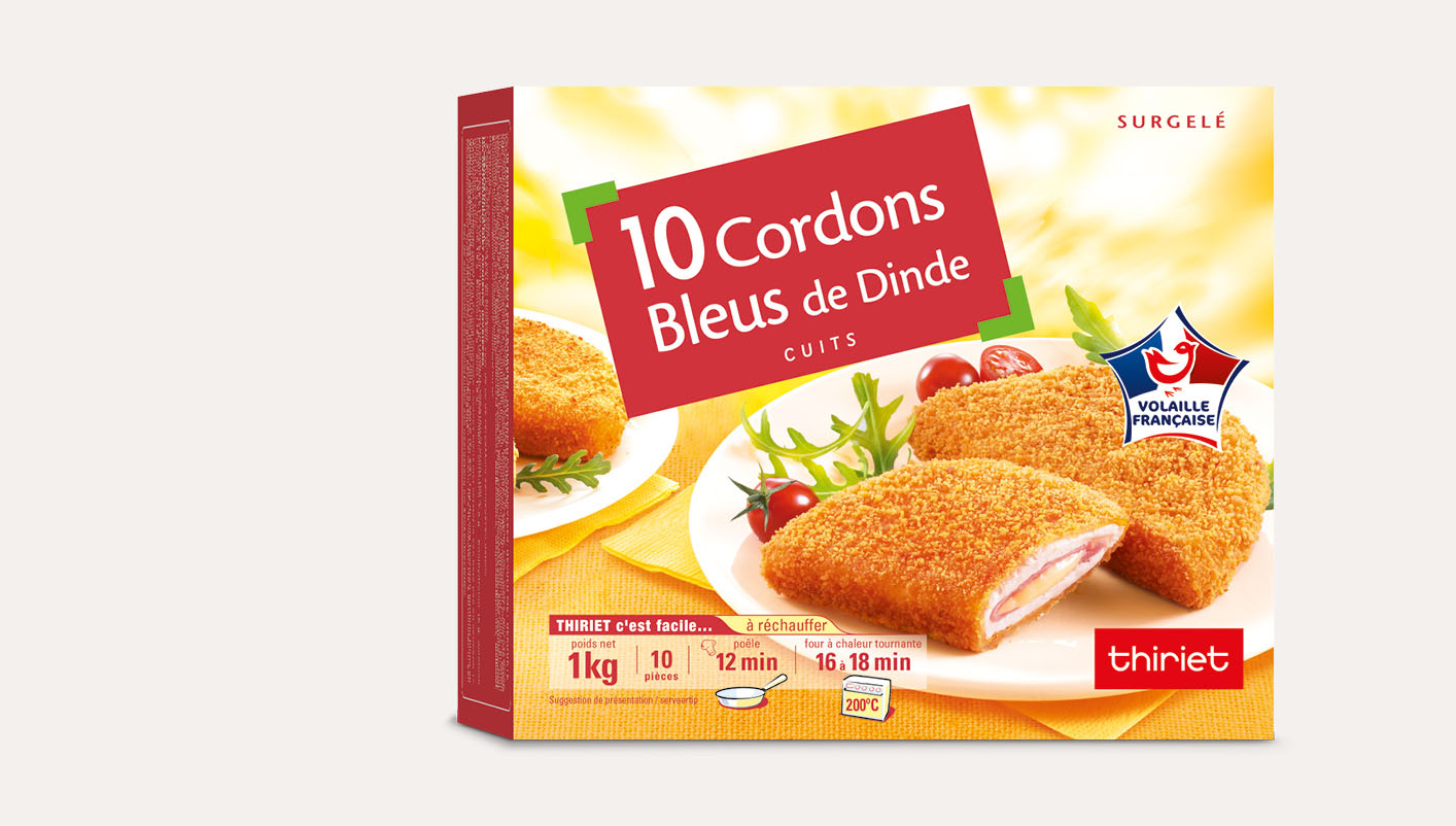 10 Cordons bleus de dinde cuits