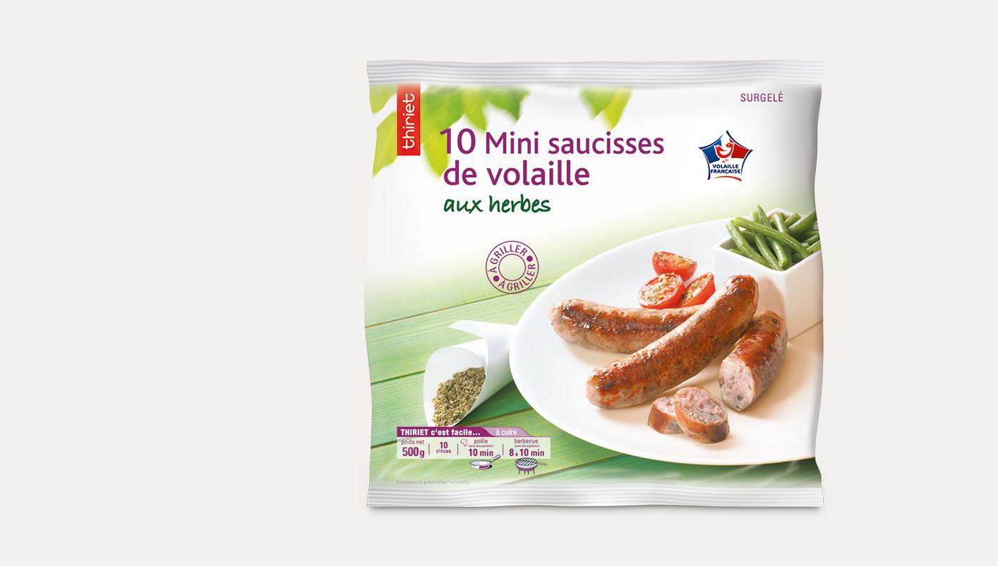 10 Mini saucisses de volaille aux herbes
