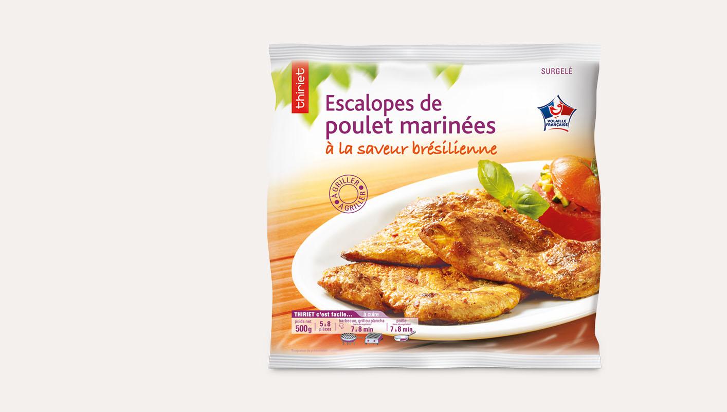 Escalopes de poulet marinées saveur brésilienne