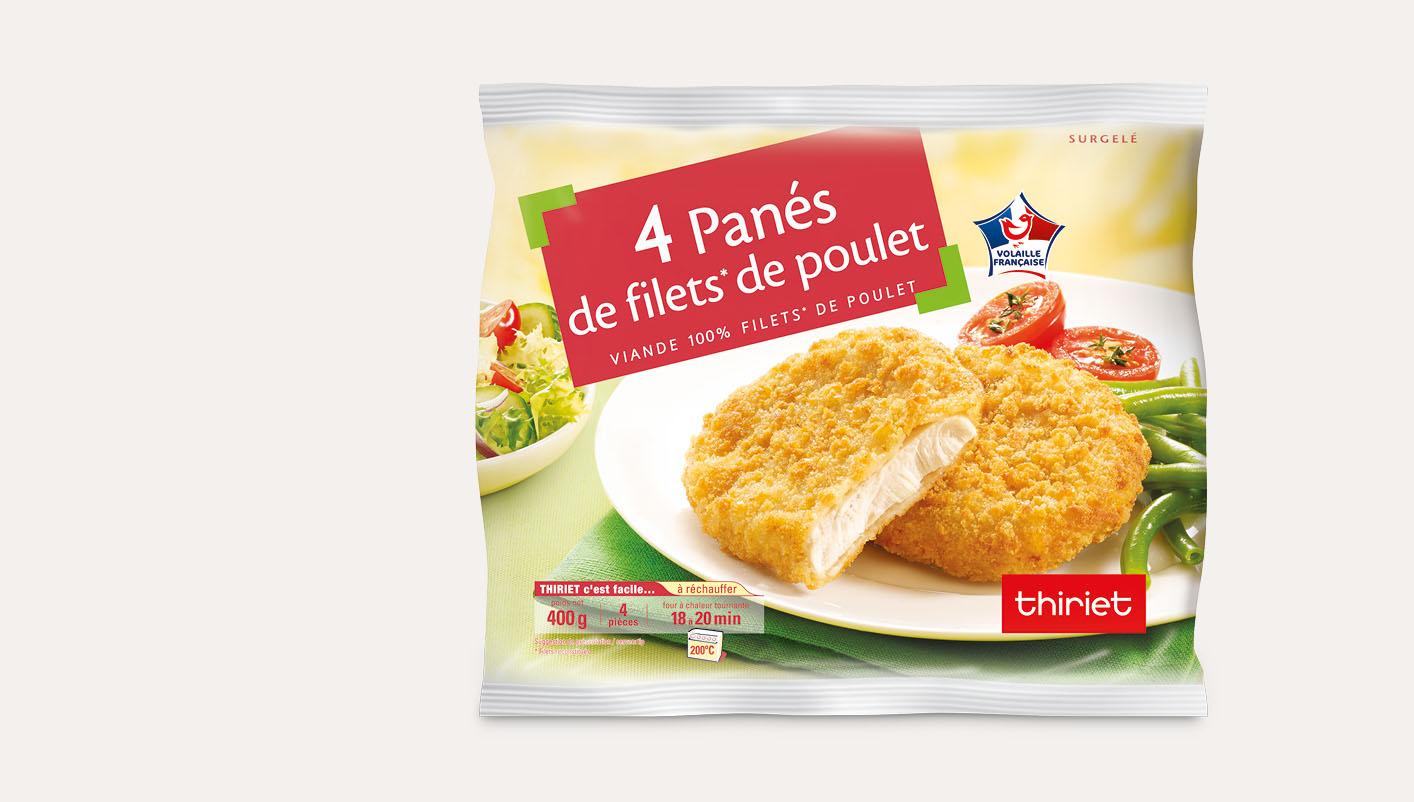 4 Panés de filet de poulet
