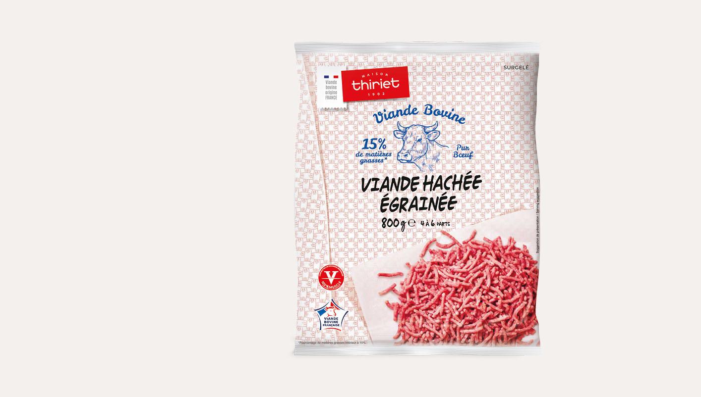 Viande hachée égrainée pur bœuf 15% M.G.