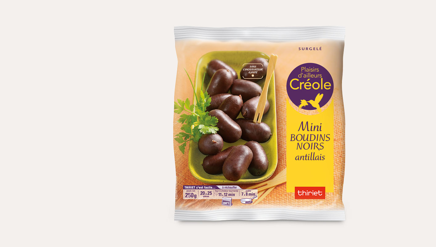 Mini boudins noirs antillais