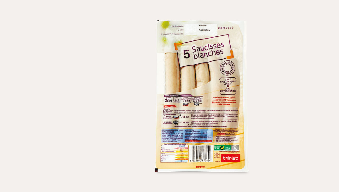 5 Saucisses blanches