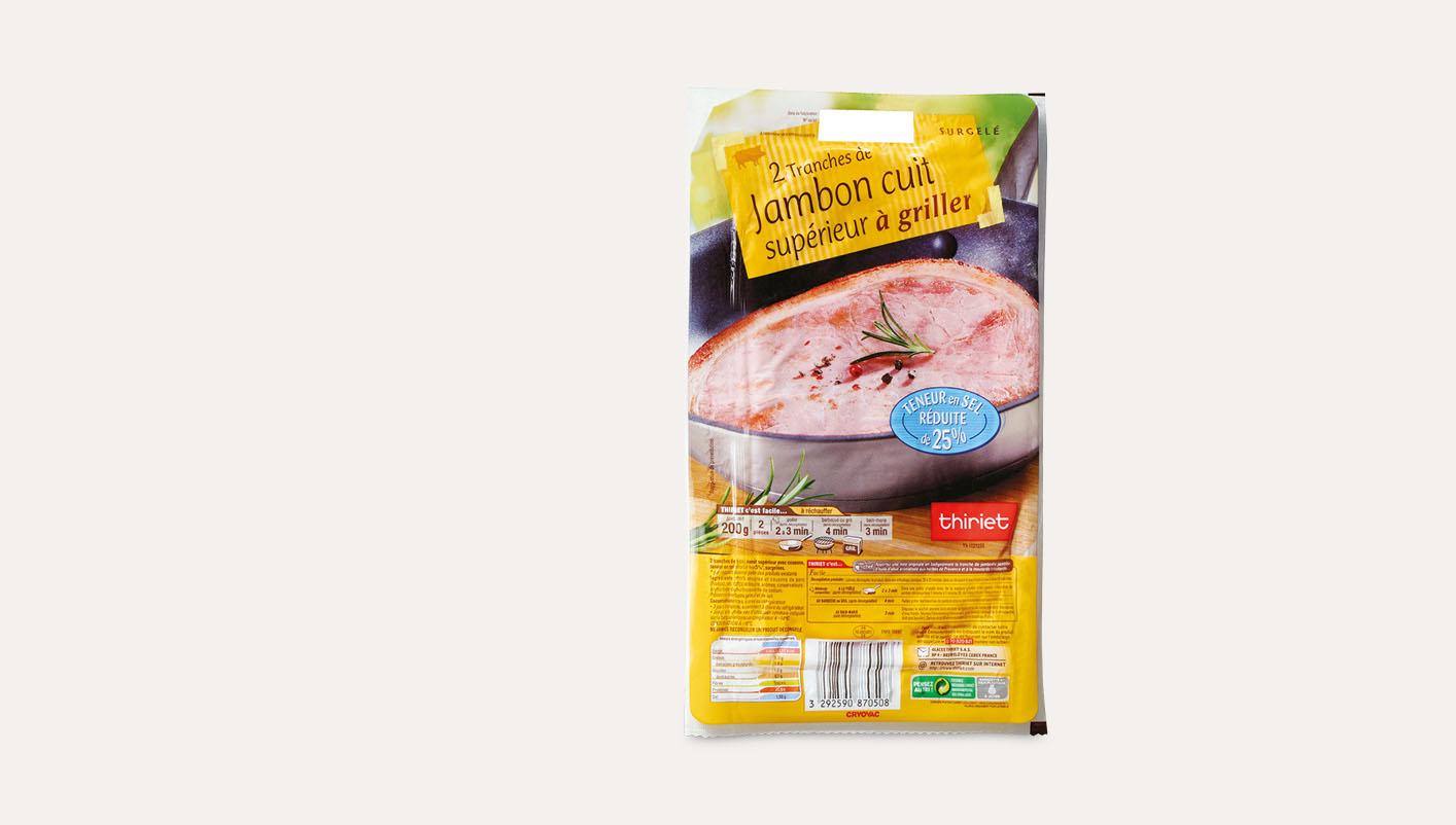 2 Tr. de jambon à teneur en sel réduite de 25%*