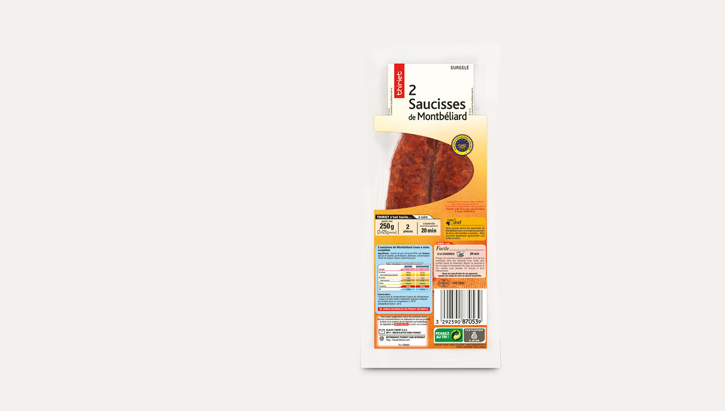 2 Saucisses de Montbéliard