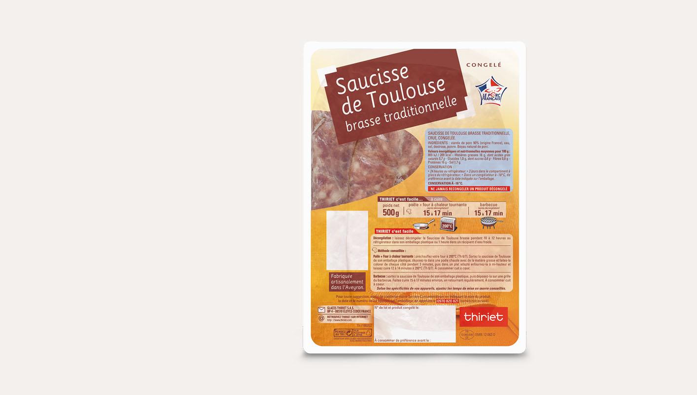 Saucisse de Toulouse brasse traditionnelle