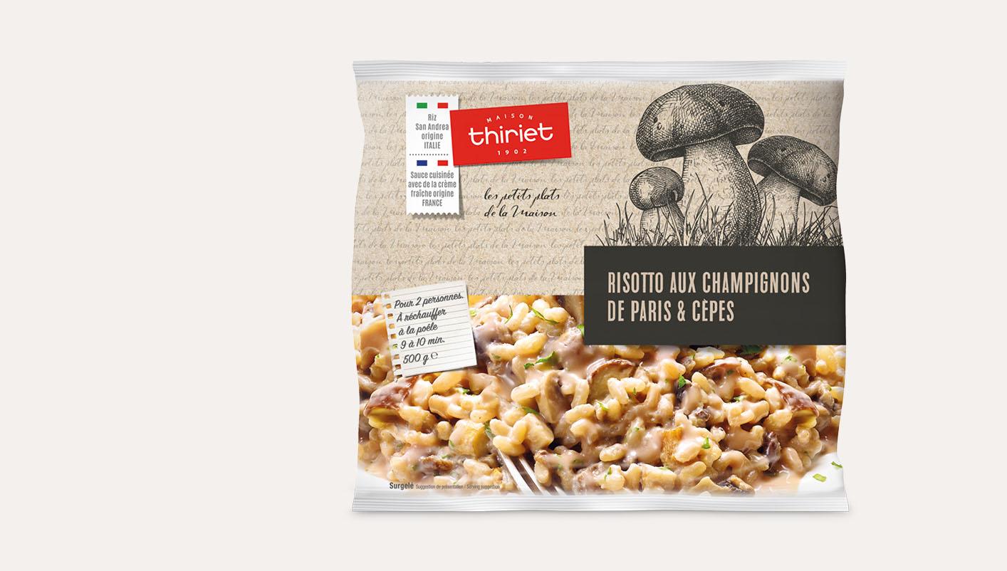 Risotto aux champignons de Paris et cèpes