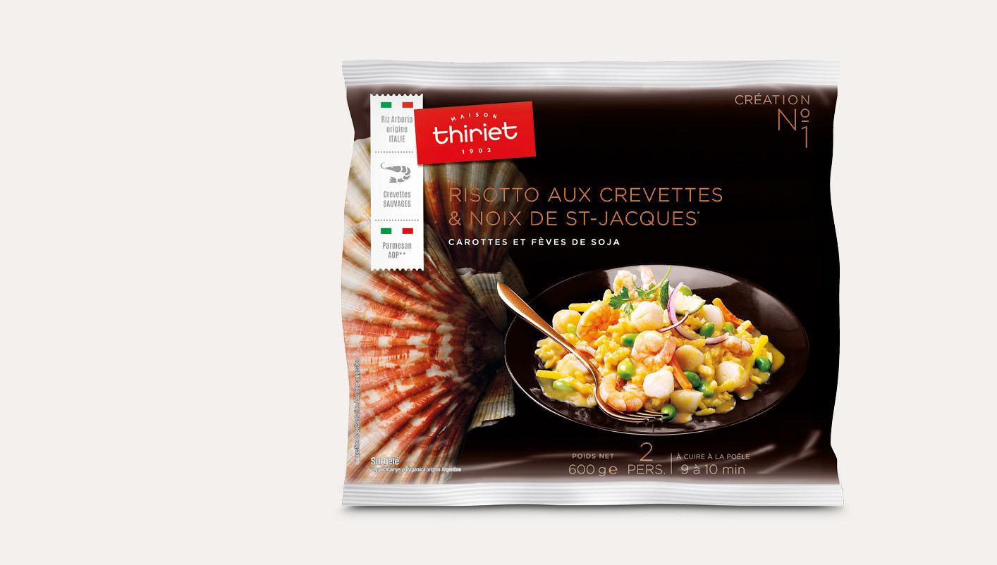 Risotto aux crevettes et noix de St-Jacques*