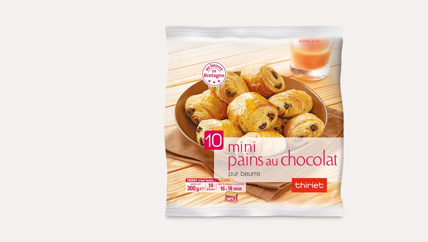 10 Mini pains au chocolat pur beurre