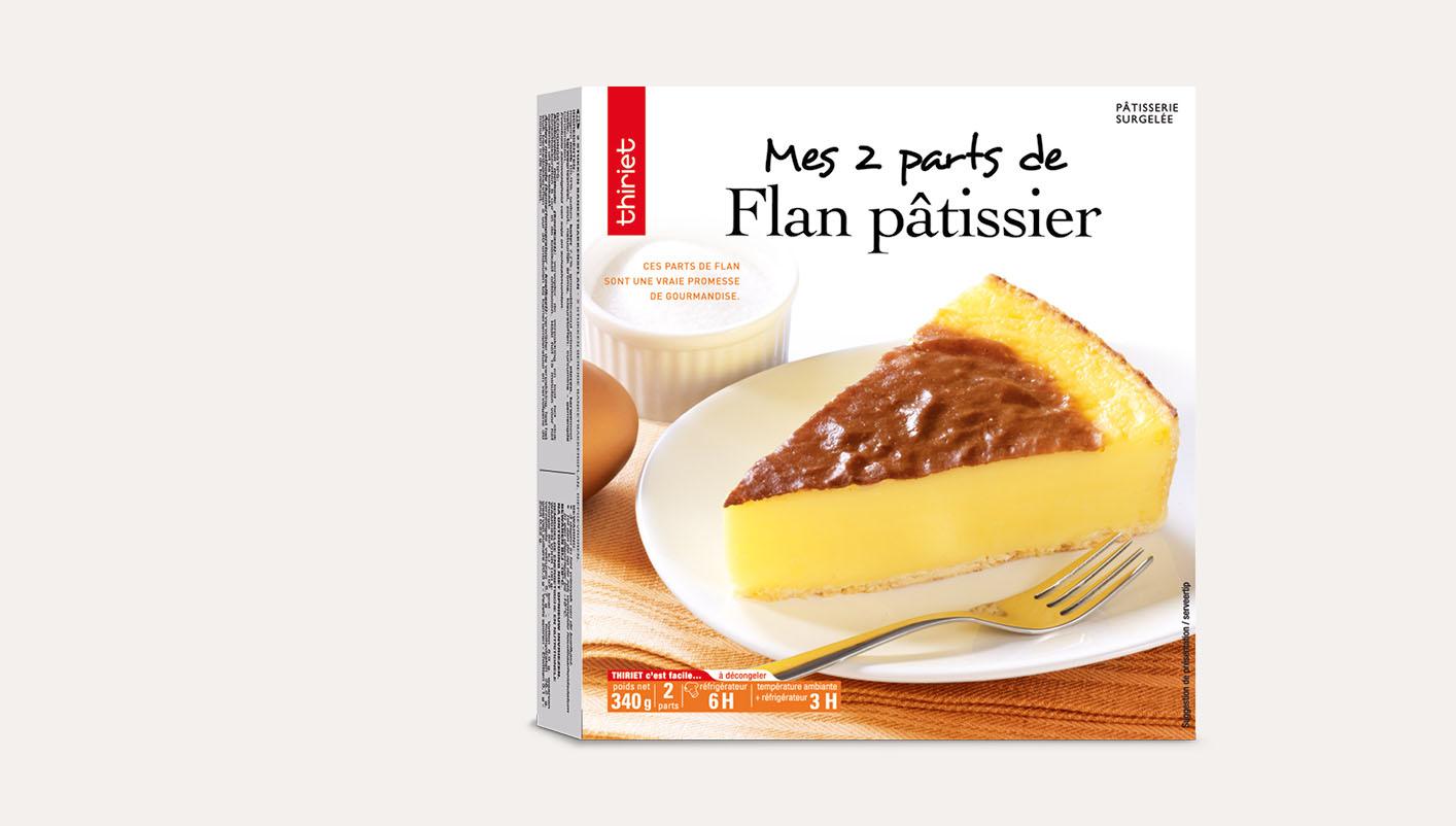 2 Parts de flan pâtissier