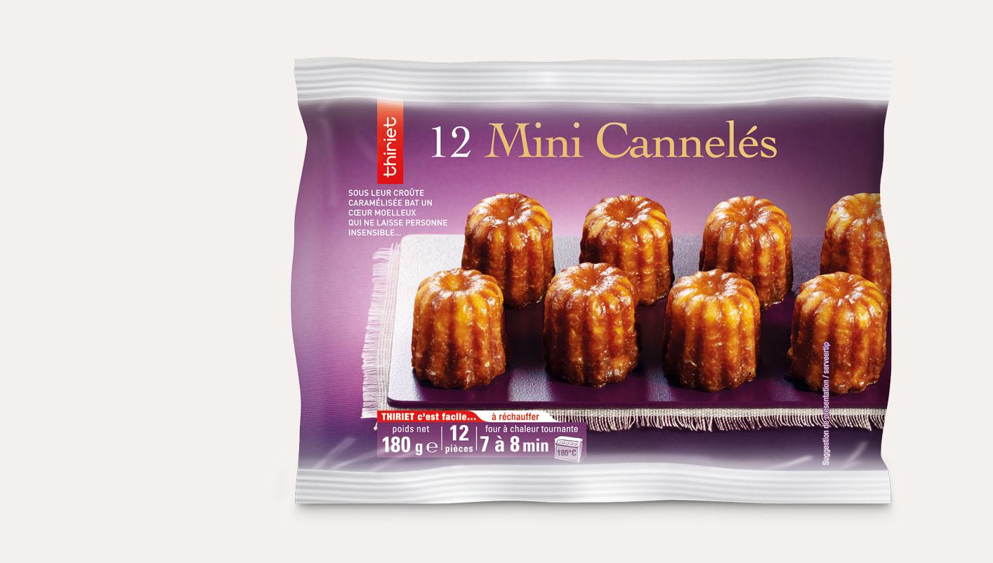12 Mini cannelés