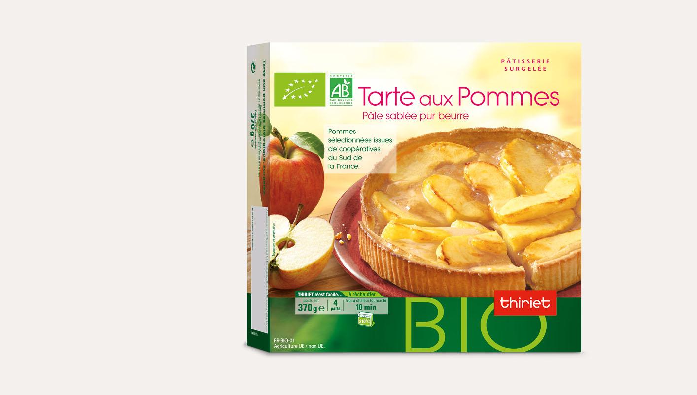 Tarte aux pommes biologique