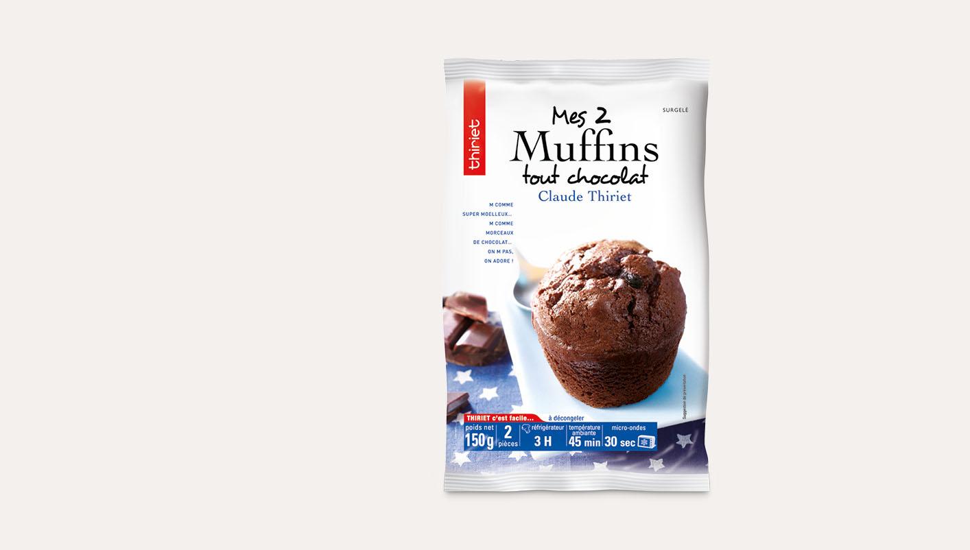 2 Muffins tout chocolat