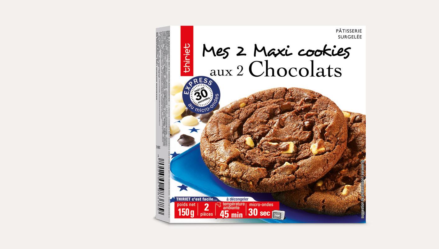2 Maxi cookies aux 2 chocolats