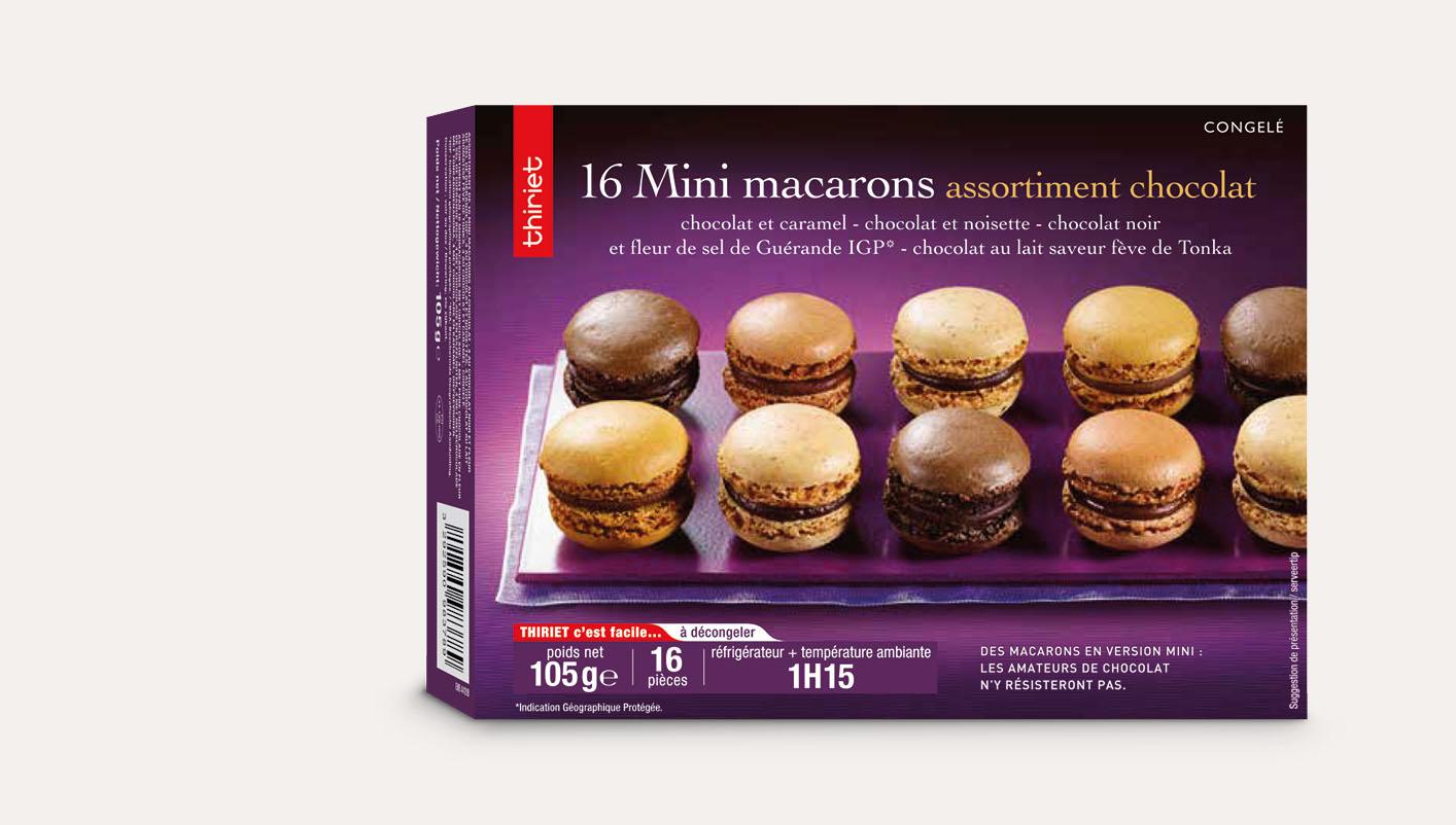 16 Mini macarons assortiment chocolat