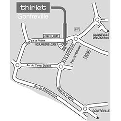 Plan Magasins Thiriet GONFREVILLE L ORCHER