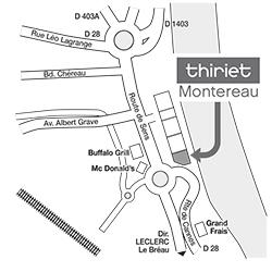 Plan Magasins Thiriet MONTEREAU FAULT YONNE
