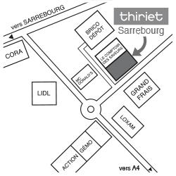 Plan Magasins Thiriet SARREBOURG