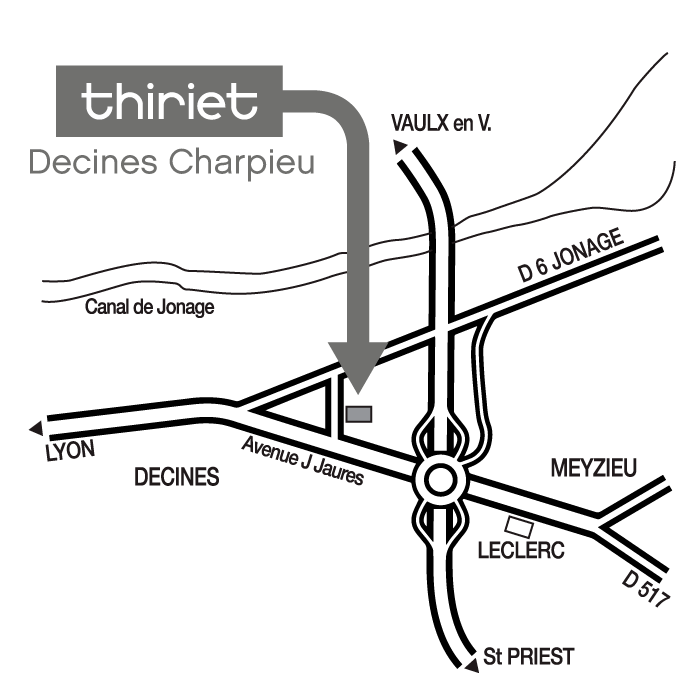 Plan Magasins Thiriet DECINES CHARPIEU
