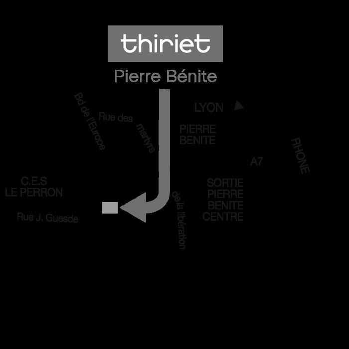Plan Magasins Thiriet PIERRE BENITE