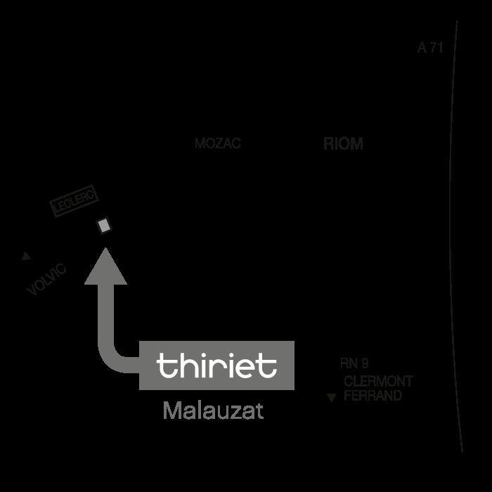 Plan Magasins Thiriet MALAUZAT
