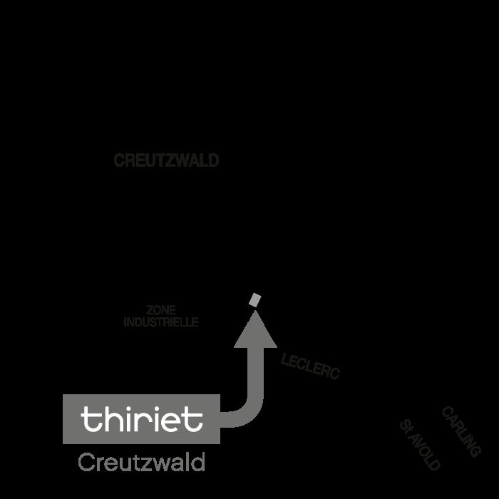 Plan Magasins Thiriet CREUTZWALD