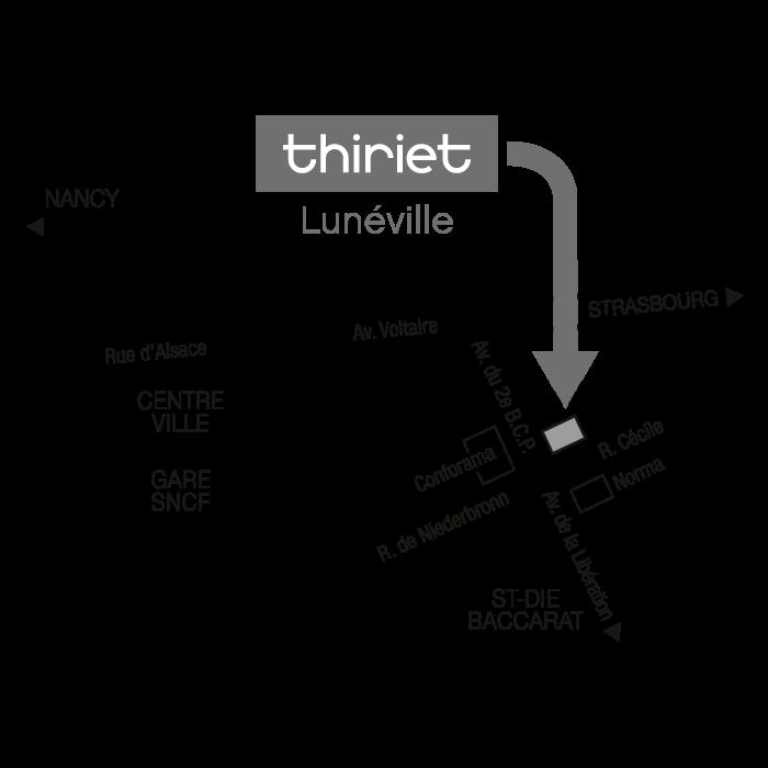 Plan Magasins Thiriet LUNEVILLE
