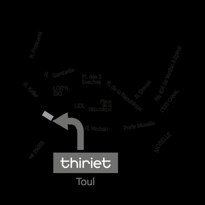 Thiriet magasin de toul for Toul 54200 plan
