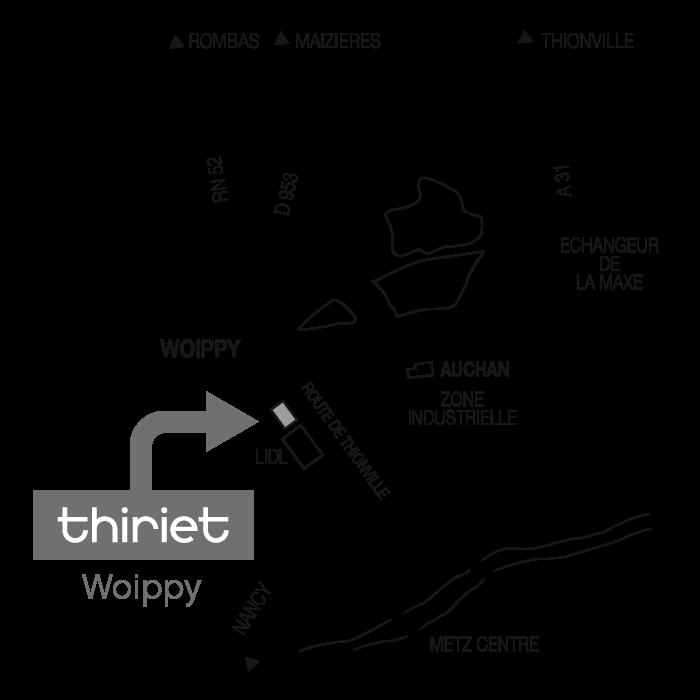 Plan Magasins Thiriet WOIPPY