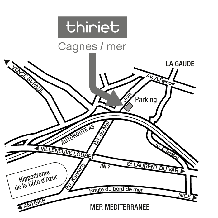 Plan Magasins Thiriet CAGNES/MER