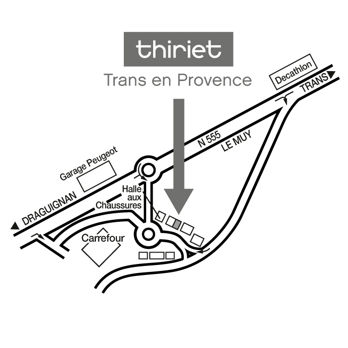 Plan Magasins Thiriet TRANS EN PROVENCE