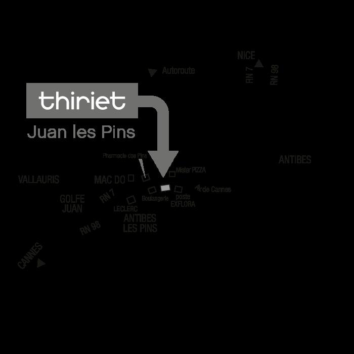 Plan Magasins Thiriet JUAN-LES-PINS