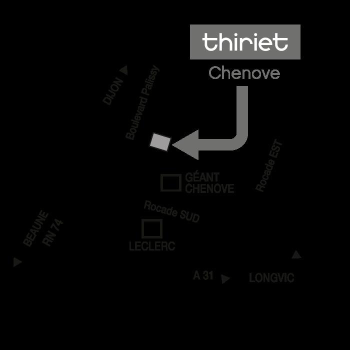 Plan Magasins Thiriet CHENOVE