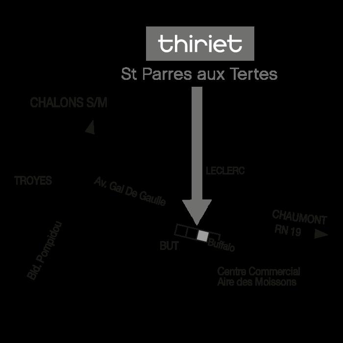 Plan Magasins Thiriet SAINT PARRES AUX TERTRES