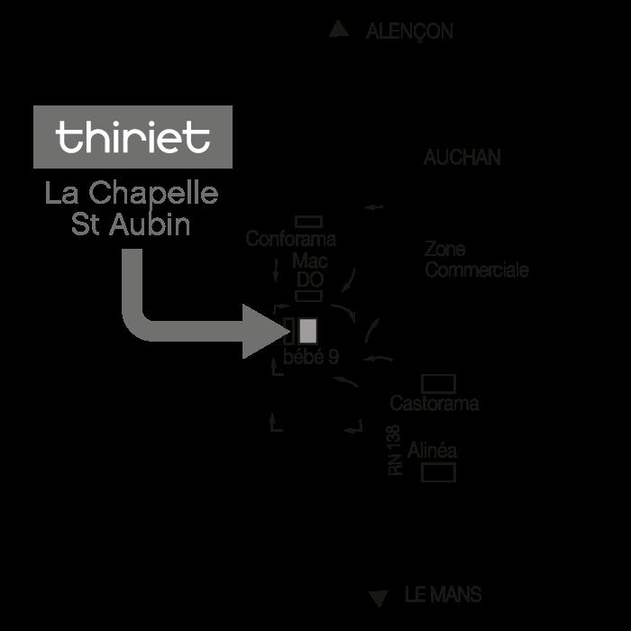 Plan Magasins Thiriet LA-CHAPELLE-ST-AUBIN