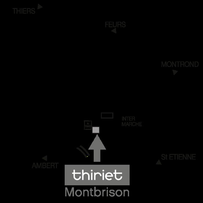 Plan Magasins Thiriet MONTBRISON
