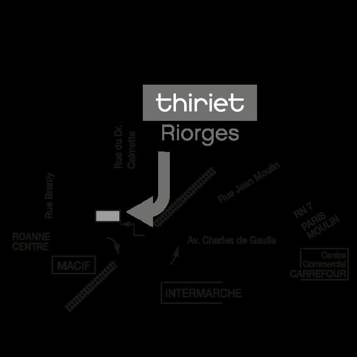 Plan Magasins Thiriet RIORGES