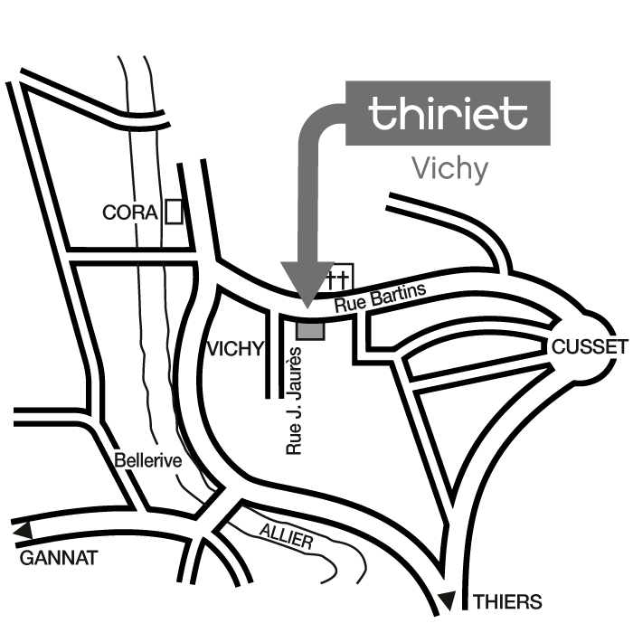 Plan Magasins Thiriet VICHY