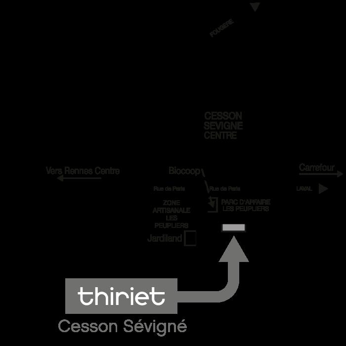 Plan Magasins Thiriet CESSON SEVIGNE