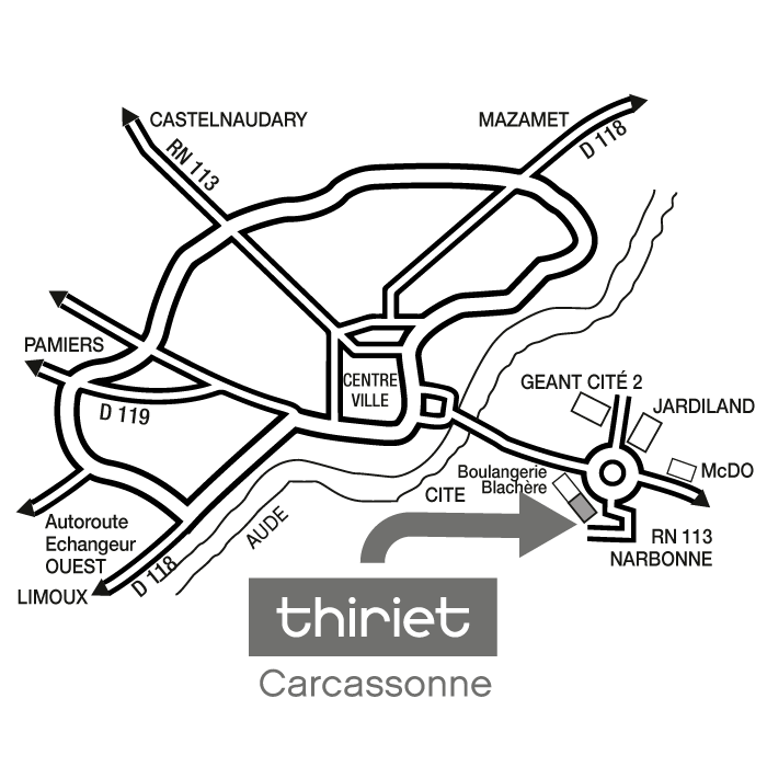 Plan Magasins Thiriet CARCASSONNE