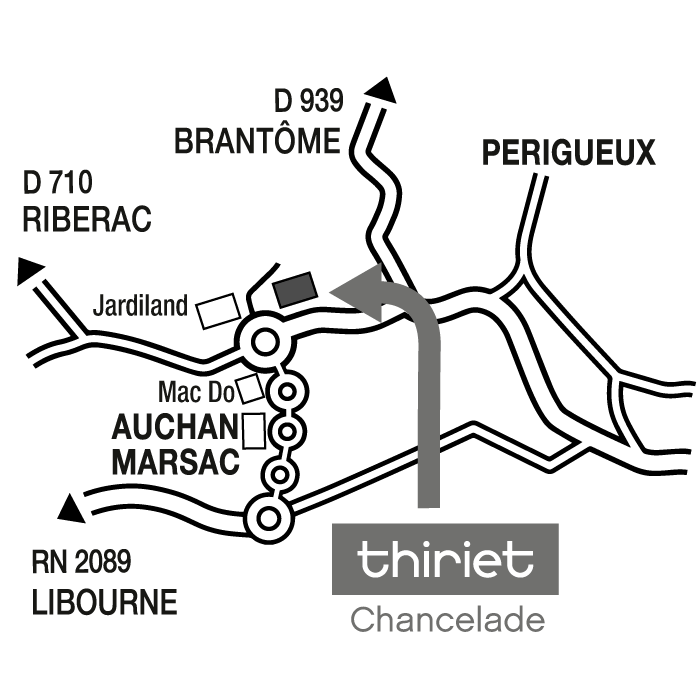 Plan Magasins Thiriet CHANCELADE