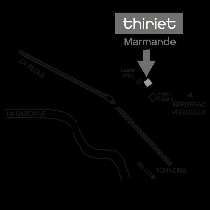 Plan Magasins Thiriet MARMANDE