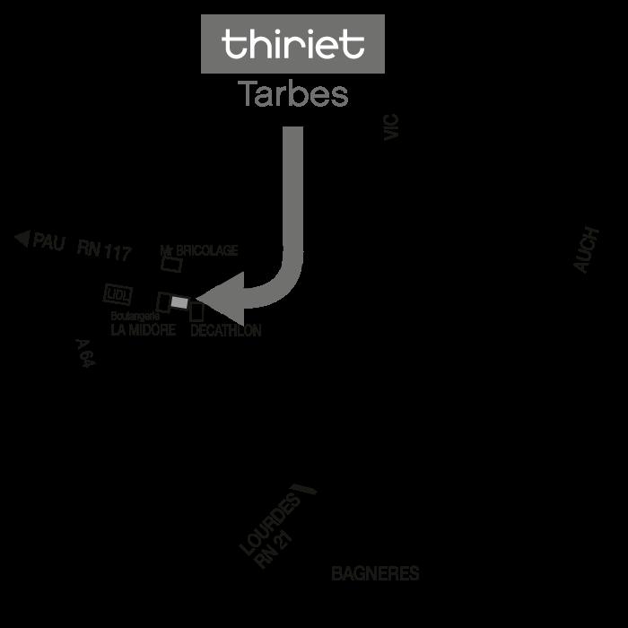 Plan Magasins Thiriet TARBES