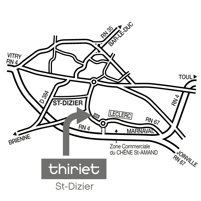 Thiriet magasin de st dizier for Plan q saint dizier