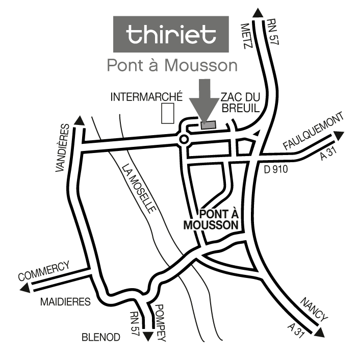 Plan Magasins Thiriet PONT A MOUSSON