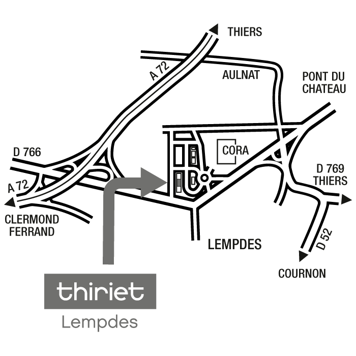 Plan Magasins Thiriet LEMPDES